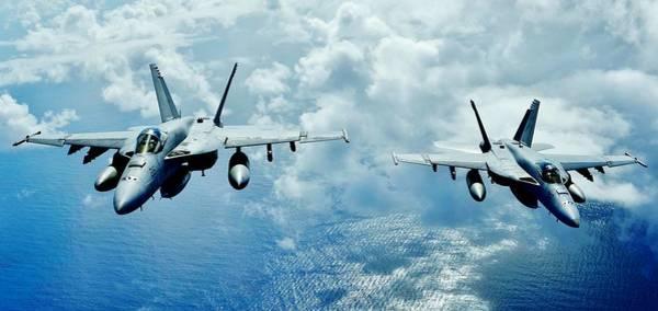 A-18 Hornet Wall Art - Photograph - Hornets by Benjamin Yeager