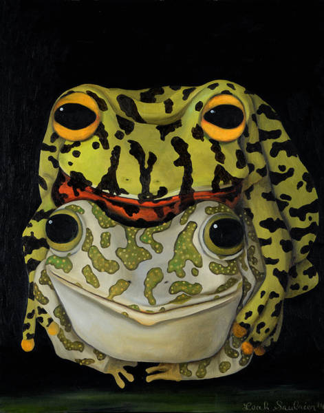 Painting - Horny Toads 2 by Leah Saulnier The Painting Maniac