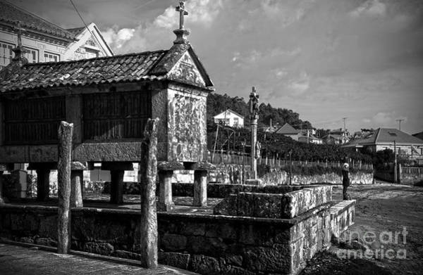 Photograph - Horreo And Cruceiro In Galicia Bw by RicardMN Photography