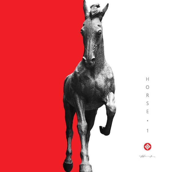 Digital Art - Horse 1 by David Davies