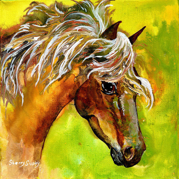 Painting - Horse 1 by Sherry Shipley
