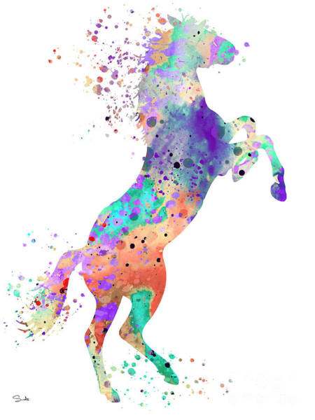 Cute Animal Wall Art - Painting - Horse 5 by Watercolor Girl