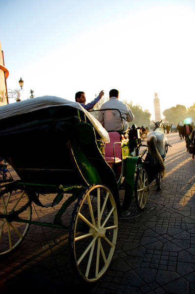 Wall Art - Photograph - Horse And Buggy In The Al Fna Square Marr by David Smith