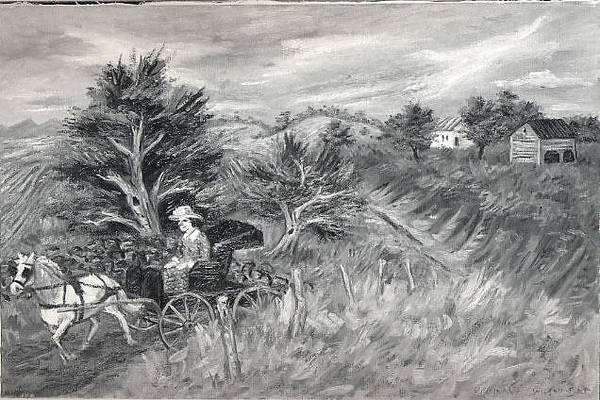 Central America Painting - Horse And Buggy by Reginald Wilson