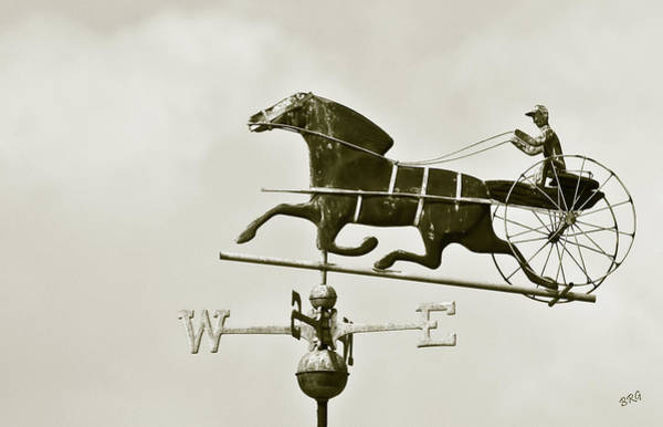 Photograph - Horse And Buggy Weathervane In Sepia by Ben and Raisa Gertsberg
