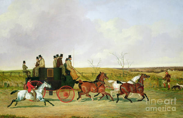 Trot Wall Art - Painting - Horse And Carriage by David of York Dalby