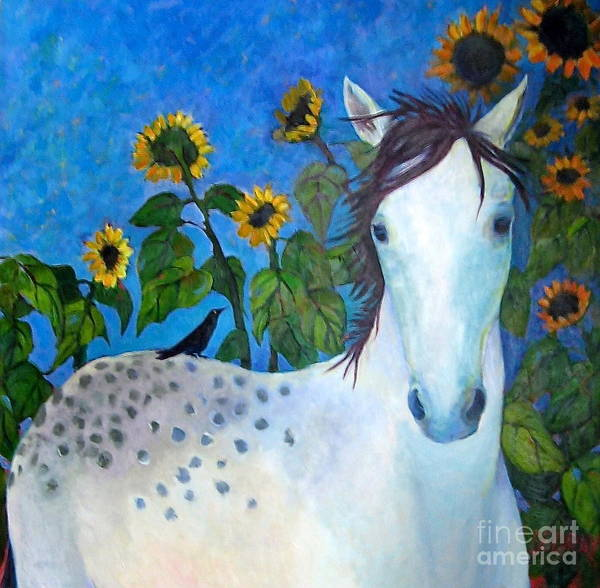 Port Townsend Painting - Horse And Friend by Vicki Ledray