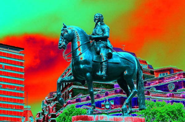 Photograph - Horse And Rider Metalicized  by Richard Henne