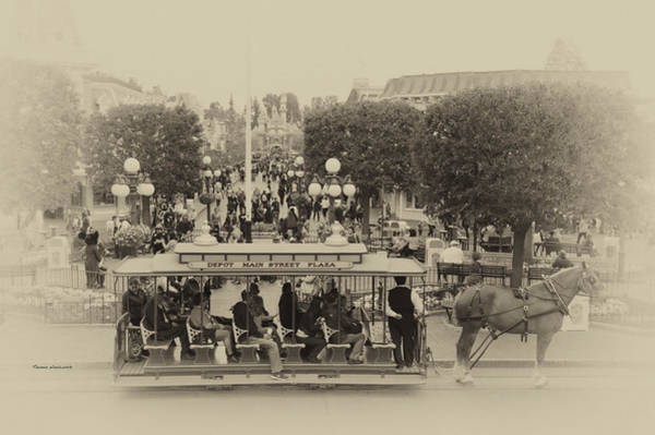 Clothier Photograph - Horse And Trolley Main Street Disneyland Heirloom by Thomas Woolworth