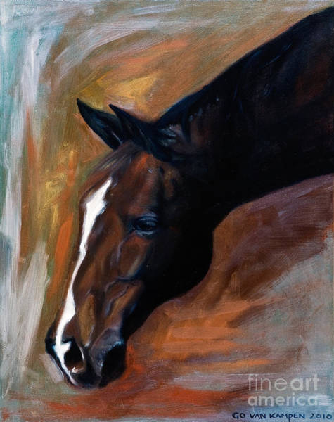 Painting - horse - Apple copper by Go Van Kampen