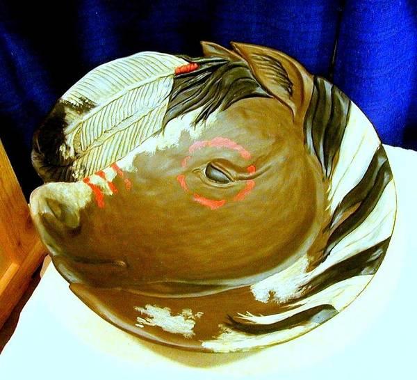 Sculpture - Horse Bowl by Tim  Joyner