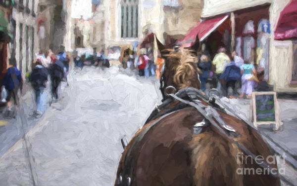 Wall Art - Photograph - Horse Carriage In Brugge by Sheila Smart Fine Art Photography