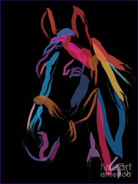 Painting - Horse-colour Me Beautiful by Go Van Kampen
