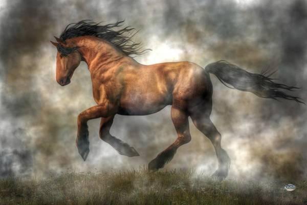 West Bay Digital Art - Horse by Daniel Eskridge