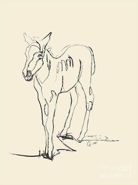 Digital Art - Horse- Foal -josje by Go Van Kampen