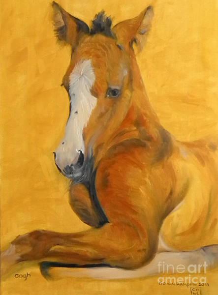 Painting - horse - Gogh by Go Van Kampen