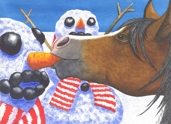 Painting - Horse Got Your Nose by Catherine G McElroy