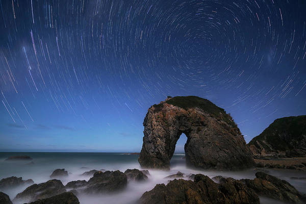 Circular Wall Art - Photograph - Horse Head Rock by Jingshu Zhu