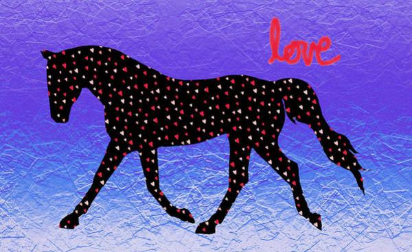 Digital Art - Horse Hearts And Love by Patricia Barmatz