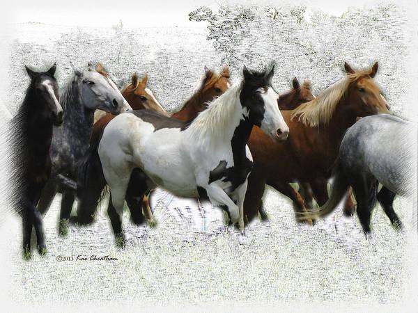 Horse Herd #3 Art Print