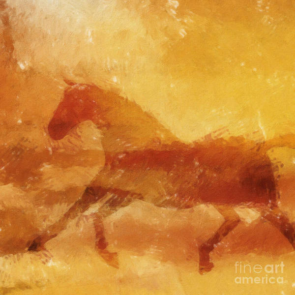 Painting - Horse In The Move by Lutz Baar