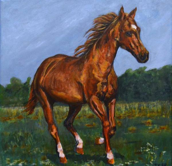 Wall Art - Painting - Horse by Jennifer Kwon