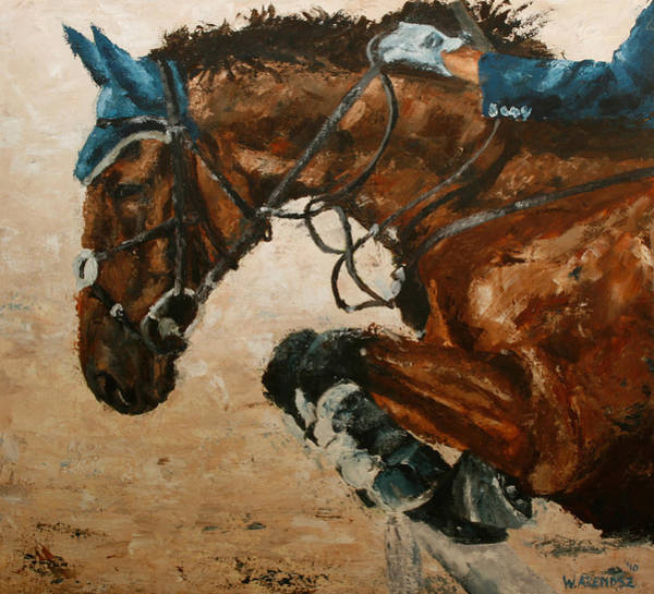 High Jump Painting - Horse Jumping by Willem Arendsz