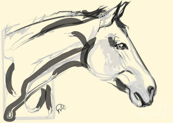 Painting - Horse - Lovely by Go Van Kampen