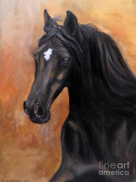 Painting - Horse - Lucky Star by Go Van Kampen