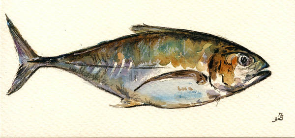 Atlantic Painting - Horse Mackerel by Juan  Bosco