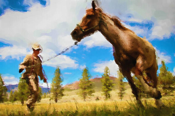 Painting - Horse Master by Inspirowl Design