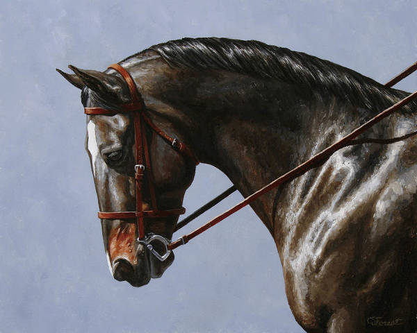 Dressage Painting - Horse Painting - Discipline by Crista Forest
