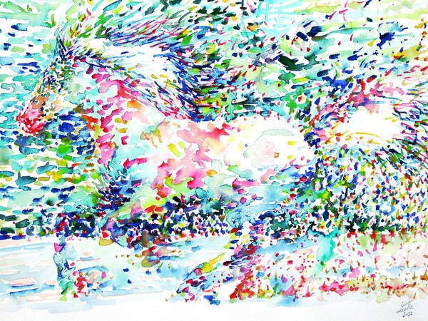 Psychedelic Image Painting - Horse Painting.32 by Fabrizio Cassetta