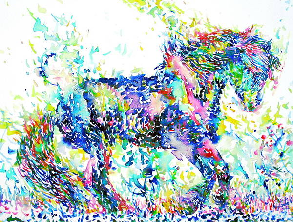 Psychedelic Image Painting - Horse Painting.33 by Fabrizio Cassetta