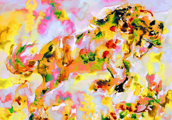 Psychedelic Image Painting - Horse Painting.7 by Fabrizio Cassetta