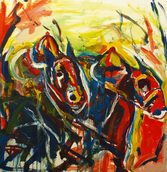 Painting - Horse Pasta by John Jr Gholson