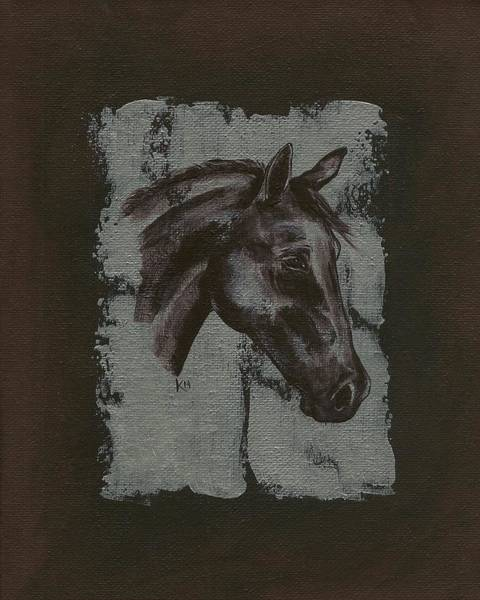 Painting - Horse Portrait by Konni Jensen