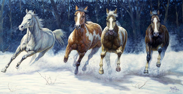 Wall Art - Painting - Horse Power by Gregory Perillo