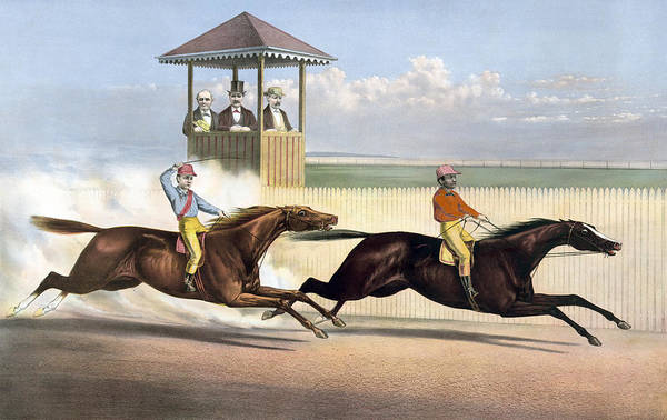 Wall Art - Painting - Horse Race, C1872 by Granger
