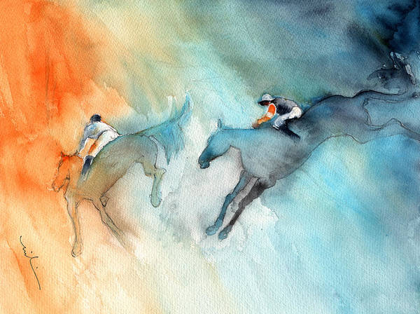 Painting - Horse Racing 02 by Miki De Goodaboom