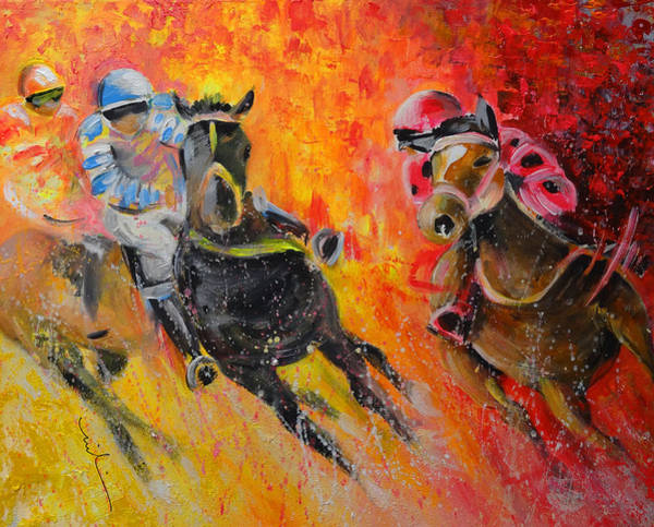 Painting - Horse Racing 07 by Miki De Goodaboom