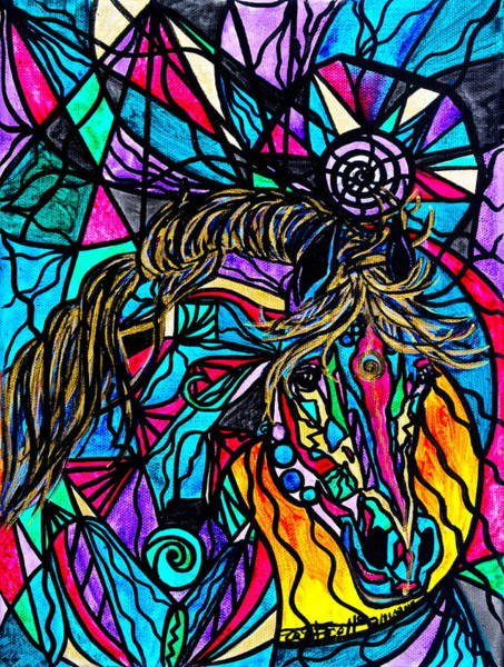 Beautiful Horse Wall Art - Painting - Horse by Teal Eye Print Store