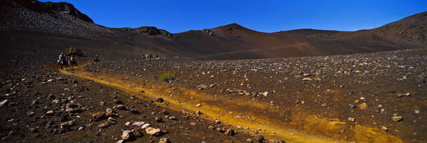 Haleakala Crater Photograph - Horse Trek, Haleakala, Maui, Big by Panoramic Images