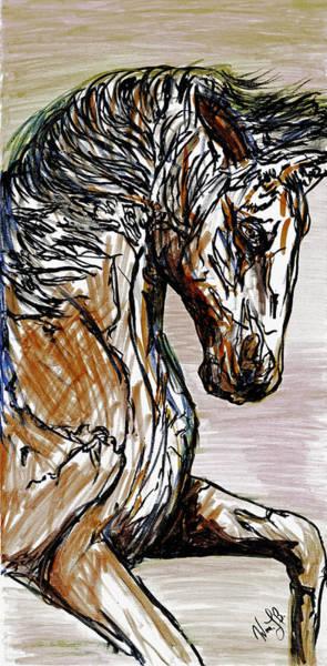 Horse Twins I Art Print
