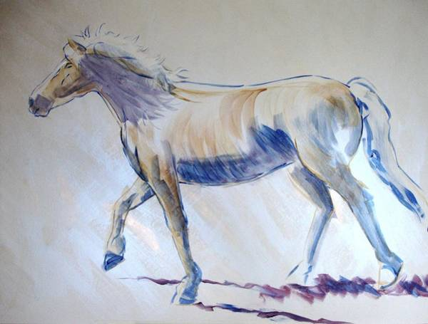 Painting - Horse Walking by Mike Jory