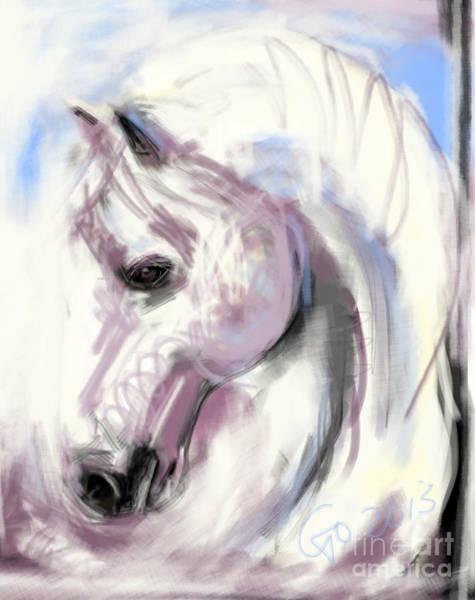 Painting - Horse White Angel by Go Van Kampen