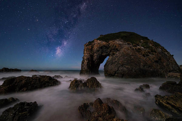Stone Arch Photograph - Horsehead Rock by Jingshu Zhu