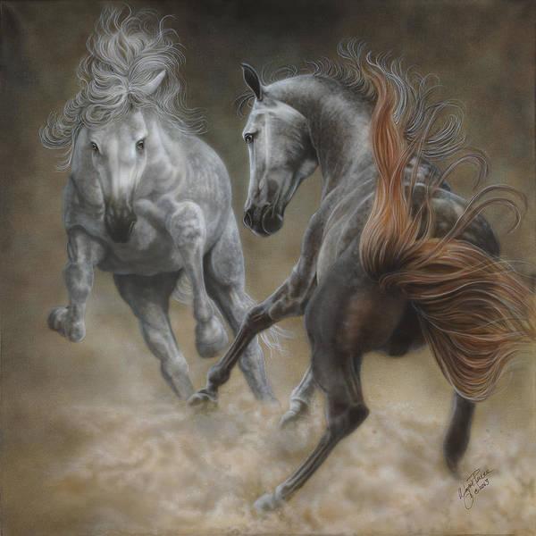 North Dakota Painting - Horseplay II by Wayne Pruse