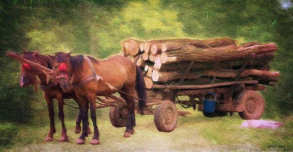 Pulling Painting - Horsepower by Jeffrey Kolker