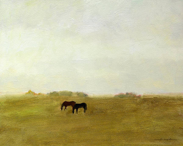 Painting - Horses Afield by J Reifsnyder